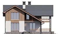 Проект бетонного дома 56-53 фасад
