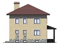Проект бетонного дома 56-54 фасад