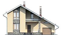 Проект бетонного дома 56-55 фасад
