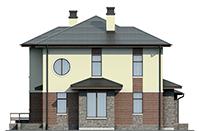 Проект бетонного дома 56-56 фасад