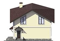 Проект бетонного дома 56-57 фасад