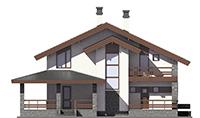Проект бетонного дома 56-58 фасад