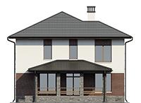 Проект бетонного дома 56-60 фасад