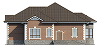 Проект бетонного дома 56-61 фасад