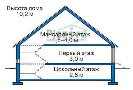 Проект бетонного дома 56-61 план