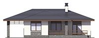 Проект бетонного дома 56-62 фасад