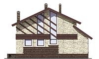 Проект бетонного дома 56-64 фасад
