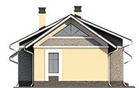 Проект бетонного дома 56-66 фасад