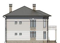 Проект бетонного дома 56-67 фасад
