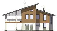 Проект бетонного дома 56-68 фасад