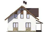 Проект бетонного дома 56-69 фасад