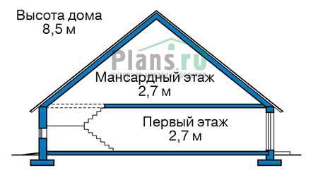 Проект бетонного дома 56-69 план