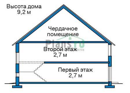 Проект бетонного дома 56-71 план