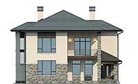Проект бетонного дома 56-77 фасад