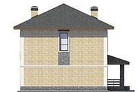 Проект бетонного дома 56-79 фасад