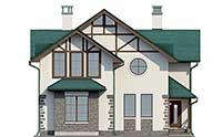Проект бетонного дома 56-81 фасад