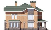 Проект бетонного дома 56-89 фасад