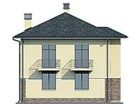 Проект бетонного дома 56-96 фасад