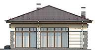 Проект бетонного дома 56-98 фасад