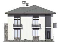 Проект бетонного дома 57-02 фасад