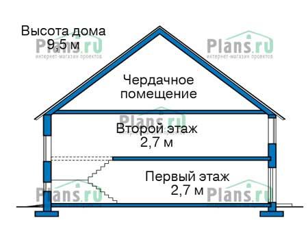 Проект бетонного дома 57-03 план