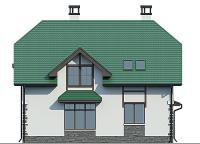 Проект бетонного дома 57-05 фасад