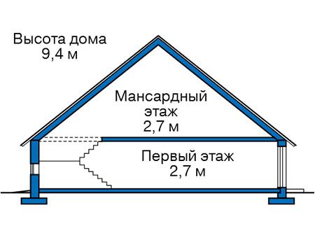 Проект бетонного дома 57-05 план