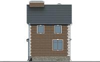 Проект бетонного дома 57-06 фасад