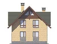 Проект бетонного дома 57-07 фасад
