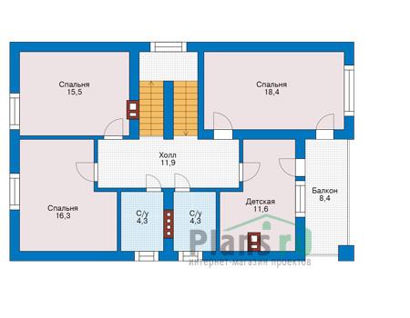 Проект бетонного дома 57-07 план
