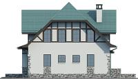 Проект бетонного дома 57-08 фасад