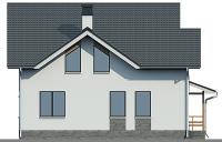 Проект бетонного дома 57-09 фасад