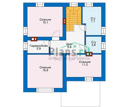 Проект бетонного дома 57-09 план