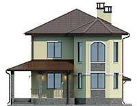 Проект бетонного дома 57-11 фасад