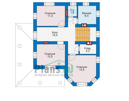 Проект бетонного дома 57-11 план