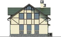 Проект бетонного дома 57-12 фасад