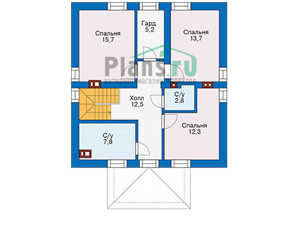Проект бетонного дома 57-12 план