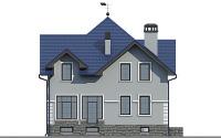 Проект бетонного дома 57-14 фасад