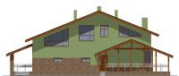 Проект бетонного дома 57-22 фасад