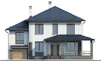 Проект бетонного дома 57-23 фасад