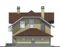 Проект бетонного дома 57-24 фасад