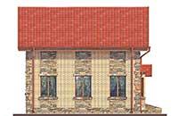 Проект бетонного дома 57-26 фасад