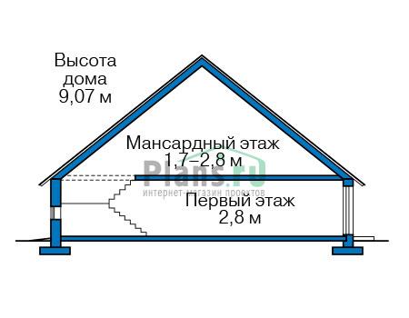 Проект бетонного дома 57-26 план