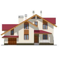 Проект бетонного дома 57-28 фасад
