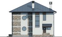Проект бетонного дома 57-30 фасад