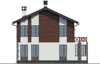 Проект бетонного дома 57-33 фасад