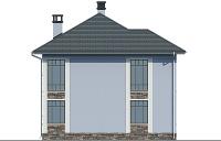 Проект бетонного дома 57-36 фасад