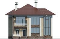 Проект бетонного дома 57-38 фасад