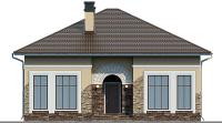 Проект бетонного дома 57-39 фасад