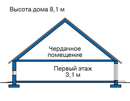 Проект бетонного дома 57-39 план